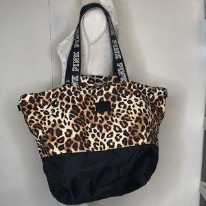 VS Pink Cheetah Print Tote Bag Shoulder Strap